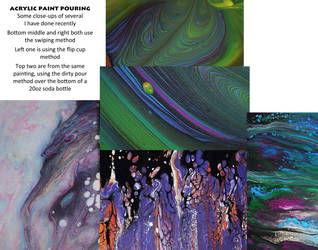 Collage - Acrylic Paint Pouring Close-Ups by LissaMonster