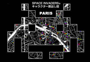 SPACE INVADER IN PARIS by Sokaii