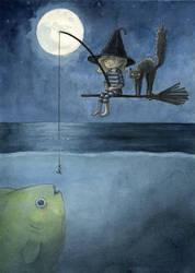 Night Fishing by gurliebot