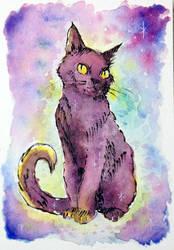 cosmic cat by gurliebot