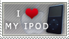I Love My iPod Stamp by angelslain