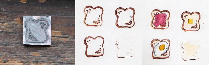 Toast Stamp by rosanevarez