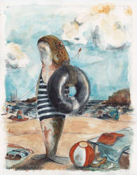 Fish at the Beach by rosanevarez