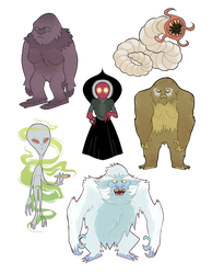 Cryptid Stickers [FOR SALE + UNLIMITED] by grampyre