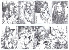 Vampirella sketch cards by slickaway