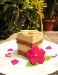 Chocolate cake with banana mousse by Kurumi-Asuka
