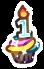 1-Year Birthday Cupcake by floramisa