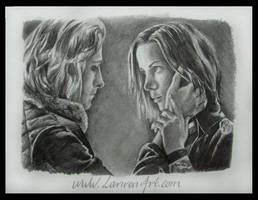 Selene and Michael by lanvenart