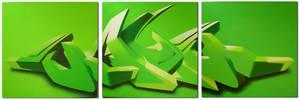 Green 'MAYM' 3D style by mayhemarts