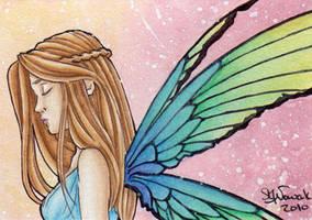 ACEO Rainbow Mermaid by GargoyleGoddess21