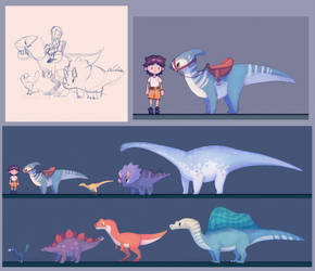 Dino Farm Game Concepts by Taluns