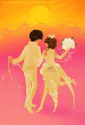 Sakura y Shaoran by YumeHimeSan