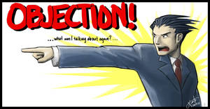 OBJECTION- Phoenix Wright by NISSAN-J
