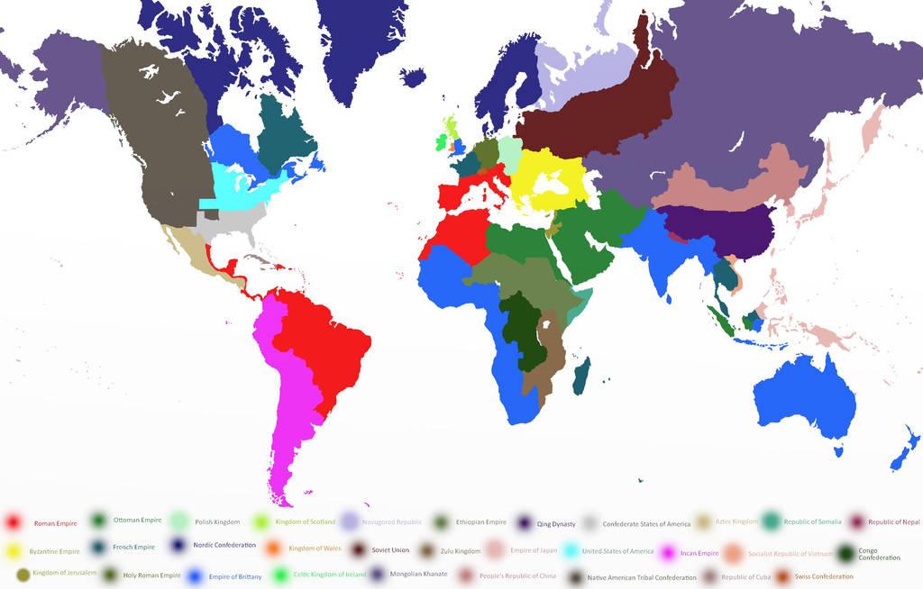 World Map Circa AD 1940 by MintgreenLynx on DeviantArt