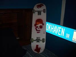 Charlie chapman skull board by SPAZwastaken