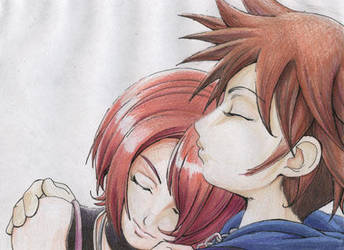 Kairi and Sora by elazuls-core