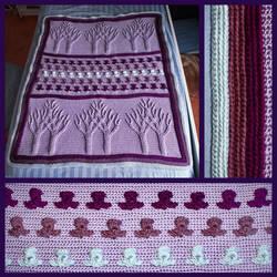 Crochet Tree of Life (Yggdrasil) Blanket by sapphiresphinx
