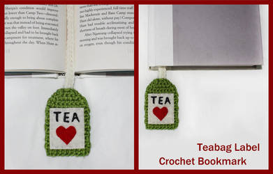 Crochet Teabag Label Bookmark by sapphiresphinx