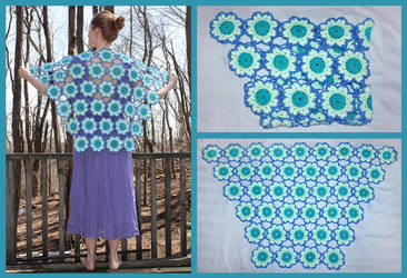Crochet Spring Flowers Shawl by sapphiresphinx