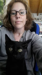 My lovely cat and me by Seilys