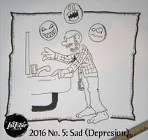 Inktober 2016 #5: Sad by AberzombieLiche