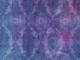 Purple Grunge Damask by R2krw9