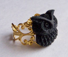 Black Owl Ring by ms-pen