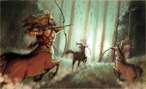 Centaur Archer by RodGallery