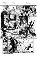 Red Sonja e Thor Sample Ink Pg01 by RodGallery