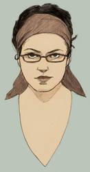 Sketchy Self Portrait by umetnica