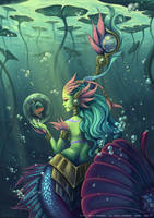 Skin Nami river spirit - League of legends by o0dzaka0o
