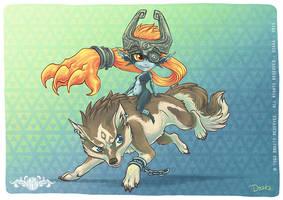 Fanart Midona et Link - Zelda Twilight Princess by o0dzaka0o