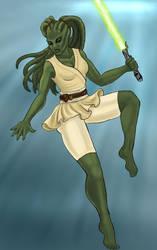 Kalista Khel, Jedi Knight by issuesmissflight