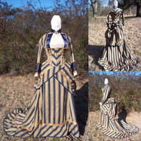 1870s Bustle Dress by issuesmissflight
