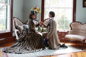 Victorian Bustle Gown by issuesmissflight