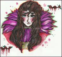 |Beneath His Beauty| (portrait: Amaryllis) by QuyaKillaLuna
