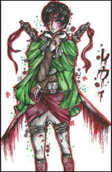  Bloodbath  (Levi Ackerman) by QuyaKillaLuna
