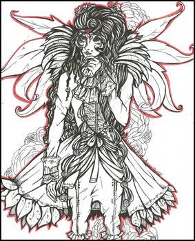 |Les Fleurs du Mal| (ToNE: Amaryllis inked) by LaReina-QuyaKoroleva