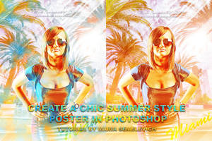 CREATE A CHIC SUMMER STYLE POSTER IN PHOTOSHOP by MariaSemelevich