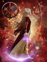 Peace and Love by Enchanted-Red-Rose