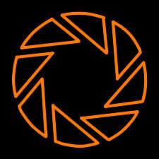 Aperture Science Logo-Orange by PortalPanda
