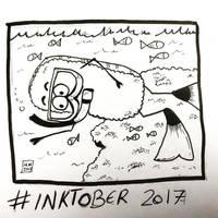 Inktober 2017, Day 4, Underwater by maestromakhan