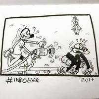 Inktober 2017, Day 11, Run by maestromakhan