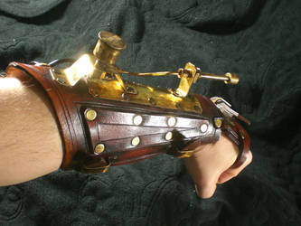 steampunk Pea Shooter Bracer by Skinz-N-Hydez