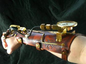 Steampunk Power Bracer by Skinz-N-Hydez