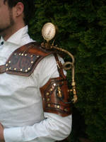 steampunk Gauged shoulder by Skinz-N-Hydez