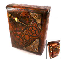 Steampunk Leather Pouch by Skinz-N-Hydez