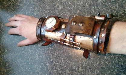 steampunk mechanic bracer armor by Skinz-N-Hydez