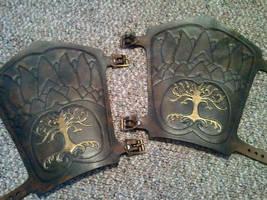 custom Tooled bracers by Skinz-N-Hydez