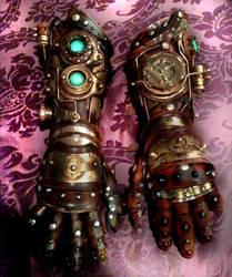 Steampunk Gauntlets by Skinz-N-Hydez